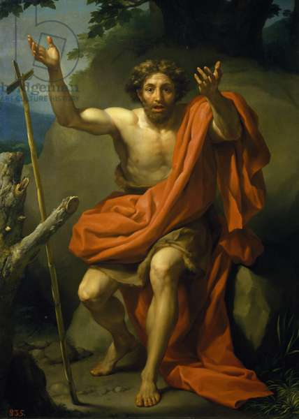 Saint John the Baptist Preaching, by Anton Raphael Mengs, 1767, oil on canvas, 1728-1779, 208x153 cm