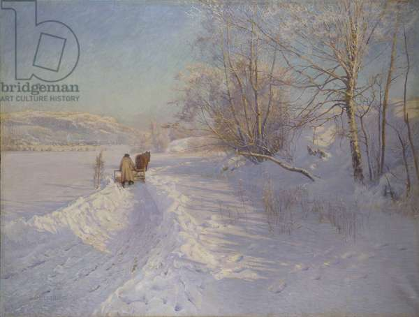 A Winter Morning after a Snowfall in Dalarna, 1893 (oil on canvas)