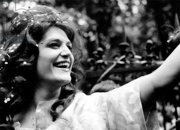 Singer Dalida April 18, 1961 (b/w photo)