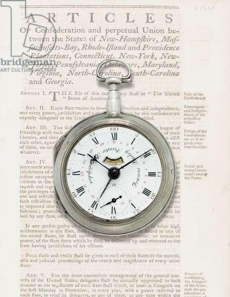 Calendar watch, c.1780 (silver case)