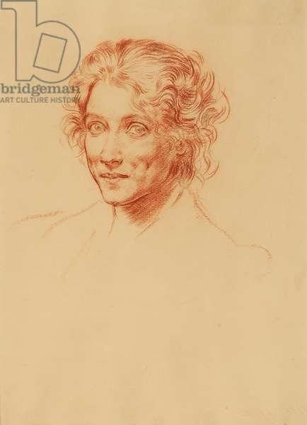 Lady Edna Clarke Hall, 1900-10 (conte crayon)