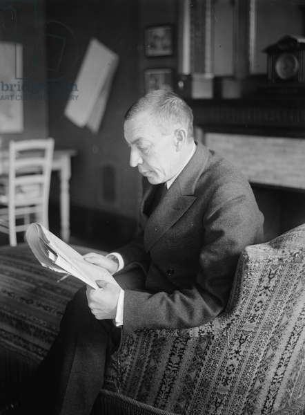 SERGEI RACHMANINOFF (1873-1943). Russian composer, conductor, and pianist. Photograph, early 20th century.