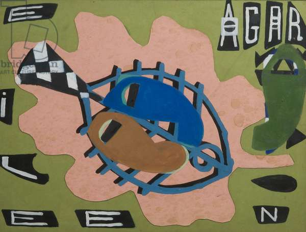 Eileen's Fish, 1964 (mixed media on paper)