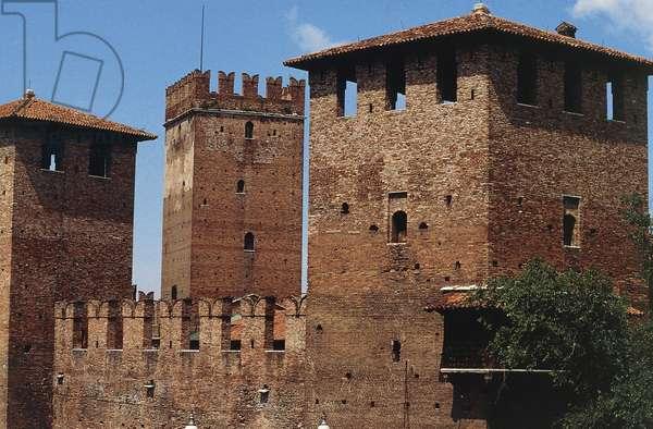 Castelvecchio, 14th-century Scaliger fortress, Verona (UNESCO World Heritage List, 2000), Veneto, Italy, Detail