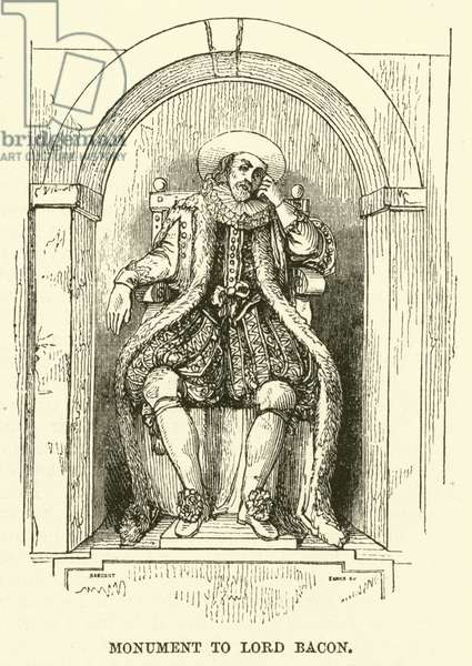 Monument to Lord Bacon (engraving)