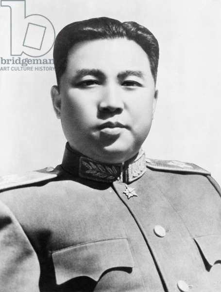 Marshal Kim Il Sung, Chairman of the Central Committee of the Korean Nodong Dang and Prime Minister of the Democratic People's Republic of Korea, 1953