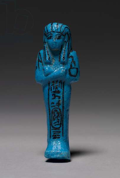 Shawabty of Pinudjem I, High Priest of Amen and King, Third Intermediate Period, c.990-969 BC (faience)
