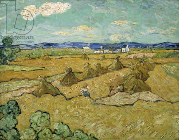 The Haystacks (oil on canvas)