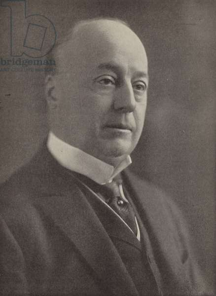 Philander C Knox, US Senator who opposed President Woodrow Wilson over the Treaty of Versailles and the League of Nations (b/w photo)