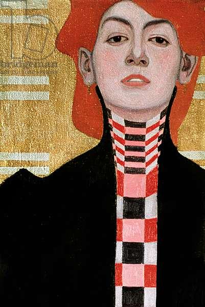 Portrait of a Woman, 1909 (oil) (detail of 282394)