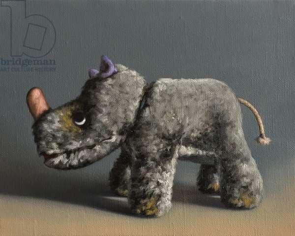 Rhino, 2015, (oil on canvas)