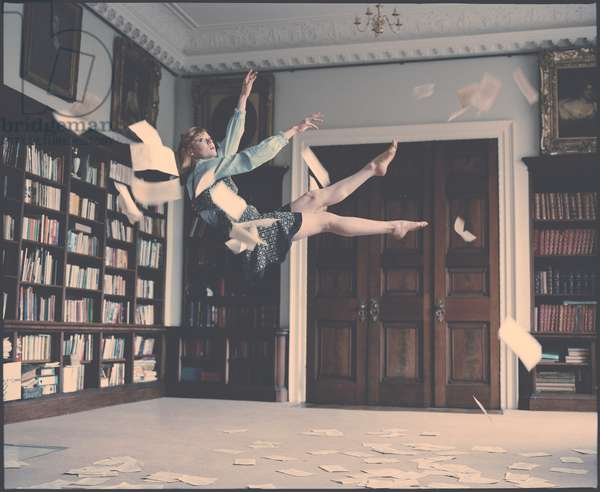 Emily Falling in the Library, 2012, (photography)