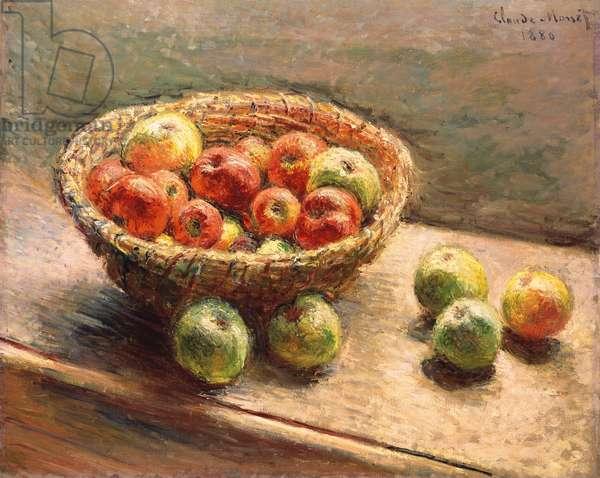 A Bowl of Apples; Le Panier de Pommes, 1880 (oil on canvas)