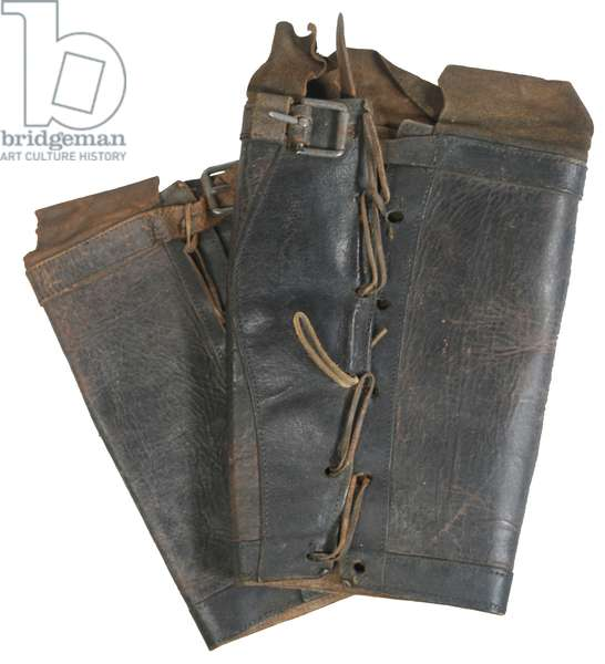 Union Army Zouave leather greaves