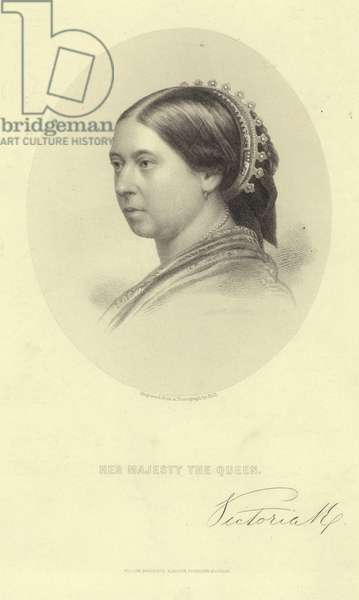 Portrait of Queen Victoria (engraving)