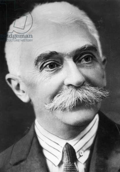 Pierre de Coubertin, 1936 (b/w photo)