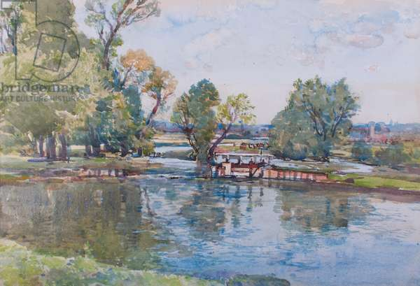 The Bridge Pool, Somerley (w/c on paper)
