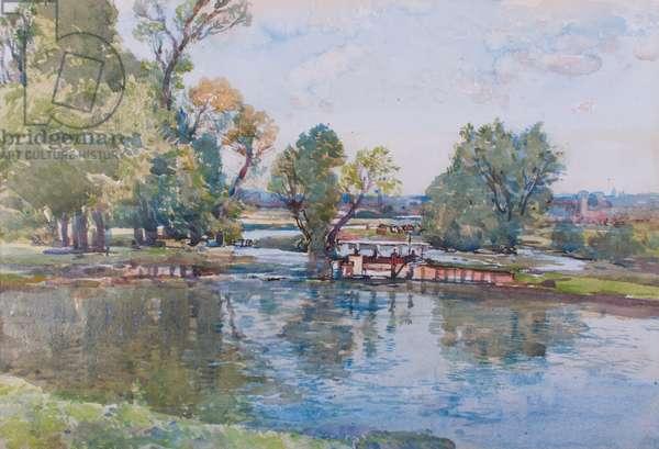 The Bridge Pool, Somerley (w/c on paper)