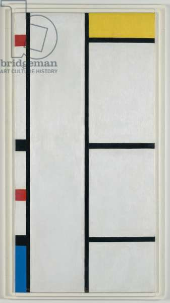 Composition (no. III) blanc-jaune / Composition with Red, Yellow, and Blue, 1935-1942 (oil on canvas)