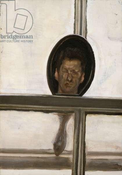 Interior with Hand Mirror (Self Portrait), 1967 (oil on canvas)