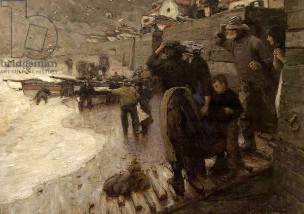 The Last Coble, 1900 (oil on canvas)