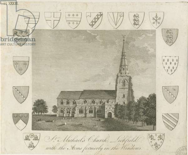 Lichfield - St. Michael's Church: engraving, nd [?late 18th cent] (print)