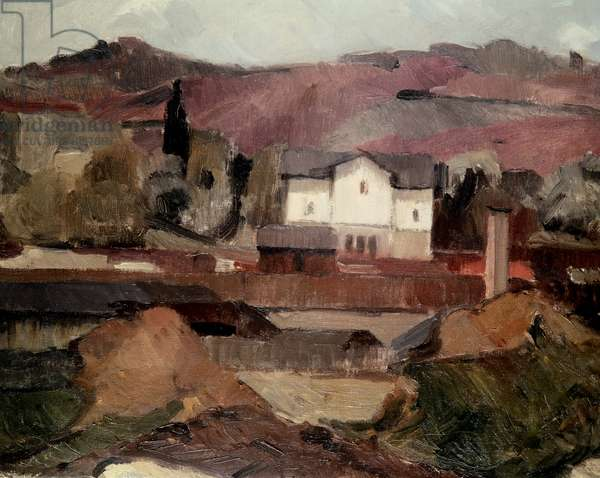 Landscape With White House (painting)