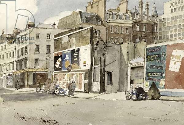 Gerrard Street, Soho, 1964 (w/c on paper)