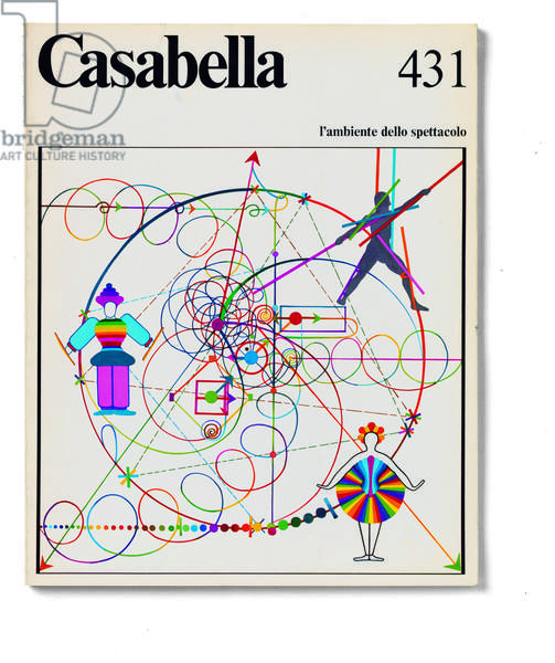Cover of Casabella, N. 431, December 1977, 20th Century, graphic, 31 x 24,5 cm