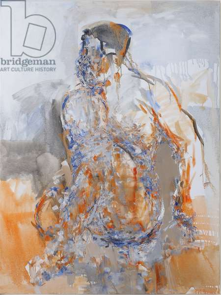 Duncan Hume dancing aged 38 (right panel of diptych), 2011 (oil on canvas)