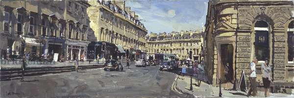 George Street from Pete's Corner, Mid afternoon, 2010 (oil on canvas)