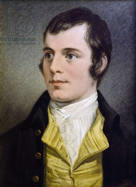 Portrait of Robert Burns (w/c on paper)