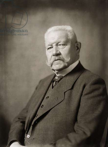 PAUL von HINDENBURG (1847-1934). German general and politician. Photographed at Berlin, Germany.