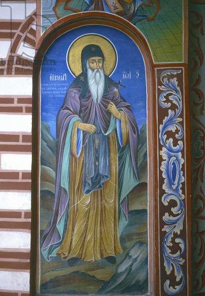 St. Ivan Rilskis (wall painting)