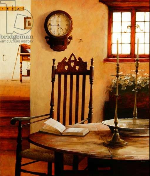 Hall Clock, 2004 (acrylic on board)