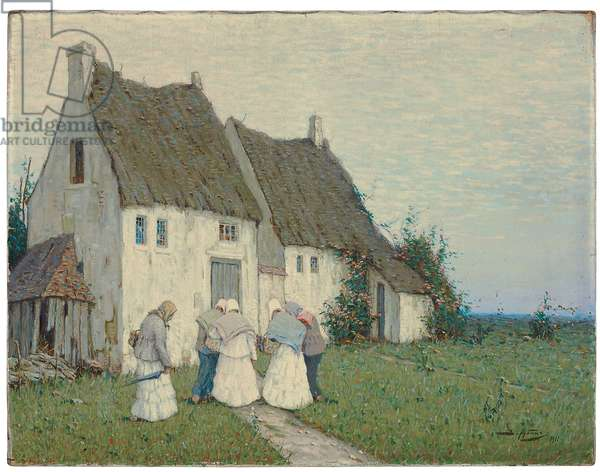 Returning from the Market, 1911 (tempera on canvas)