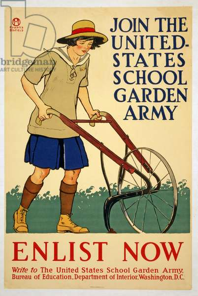 Join the United States School Garden Army - Enlist now, 1918 (colour litho)