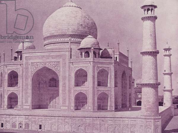 Another View of the Taj Mahal (b/w photo)