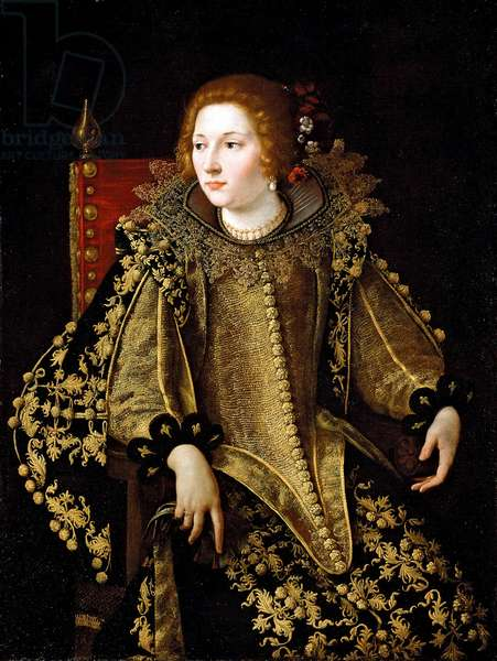 Portrait of a Seated Lady (possibly Caterina Savelli) c.1620 (oil on canvas)