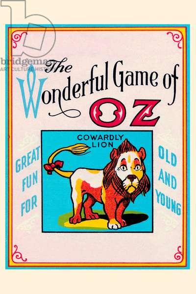 Wonderful Game of Oz - Cowardly Lion, Wizard of Oz