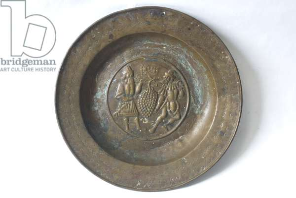 Alms Plate Return of the Explorers from the Land of Canaan (Brass)