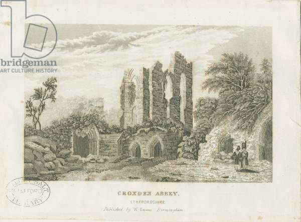Croxden Abbey: steel engraving, nd [19th cent] (print)