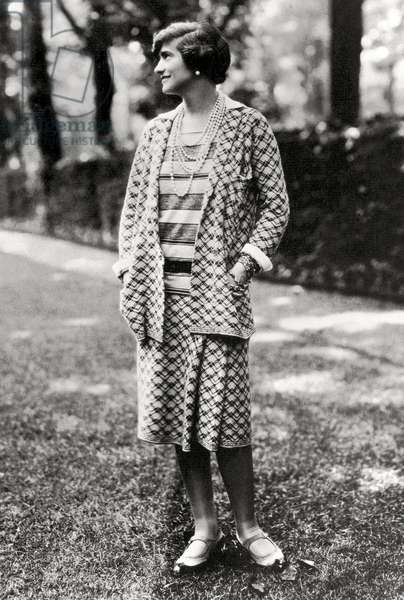 Portrait of the young designer, Coco Chanel