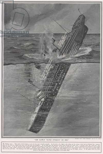 Last phase of The Titanic (litho)