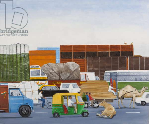 Road Block, 2014 (oil on linen)