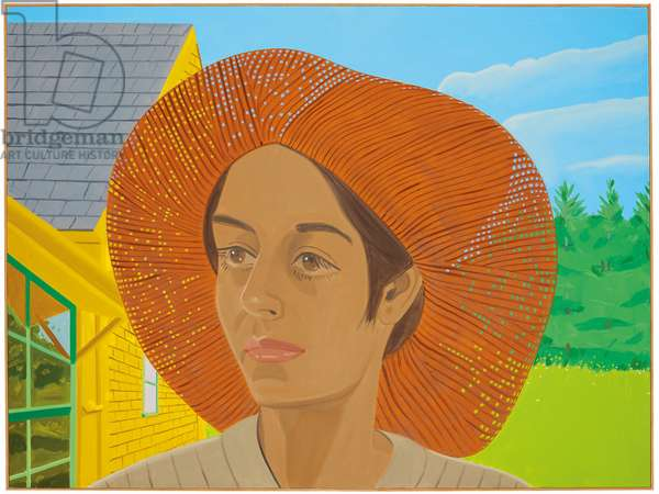 Orange Hat 2, 1973 (oil on linen)