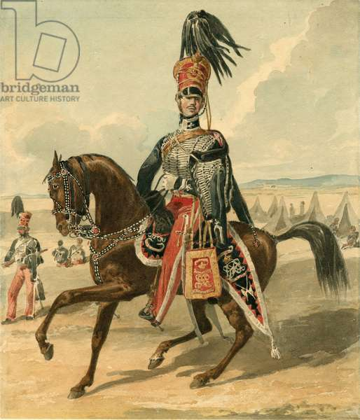 15th The King's Hussars, 1825 (w/c on paper)