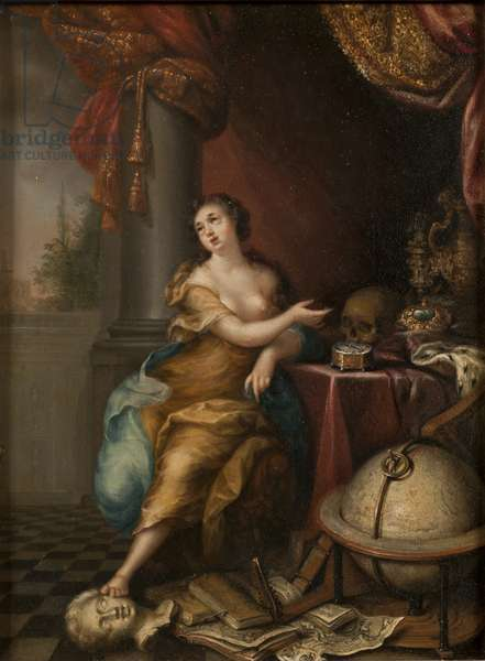 Allegory on the Vanity of Life, c.1700 (oil on copper)