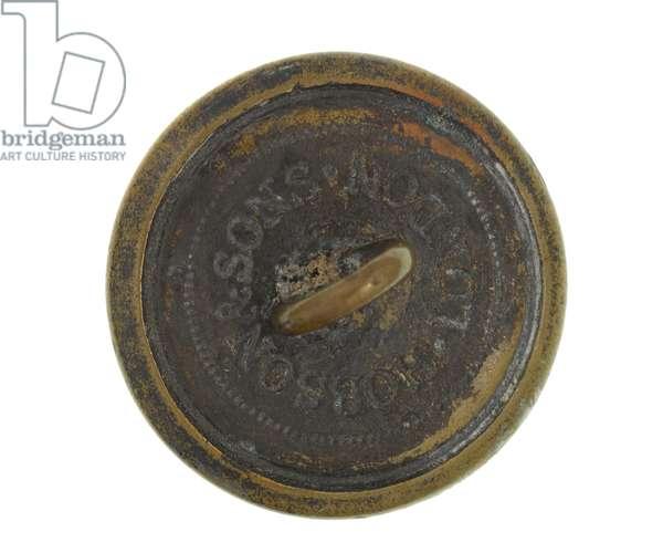 Button, Cachar Volunteer Rifles, 1883-1886 (brass)