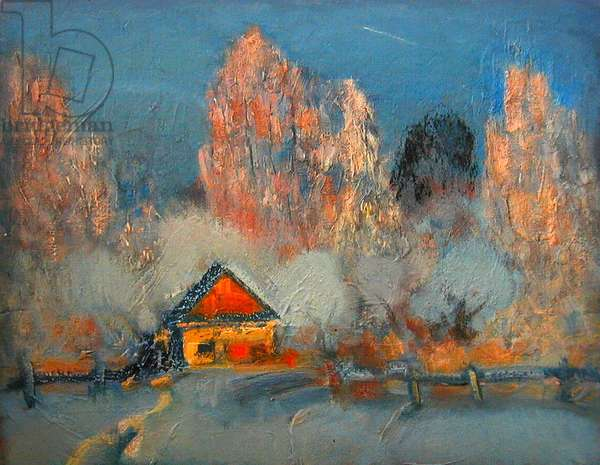 Frost, 1980 (oil on canvas)